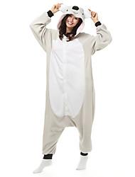 Pijama Kigurumi Coala Pijama Macacão Pijamas Ocasiões Especiais Lã Polar Fibra Sintética Branco Cosplay Para Adulto Pijamas Animais