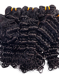 cheap -Brazilian Hair Deep Wave Virgin Human Hair Natural Color Hair Weaves Human Hair Weaves Human Hair Extensions