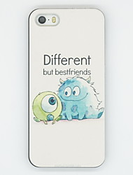 cheap -iPhone 7 Plus Different But Best Friend Pattern PC Hard Back Cover Case for iPhone 5/5S
