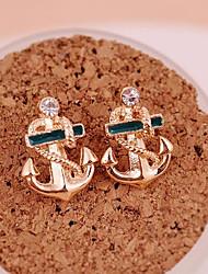 Dame Stangøreringe Dråbeøreringe Mode Personaliseret kostume smykker Guldbelagt Anker Smykker Til Fest Daglig Afslappet