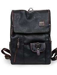 Unisex Rucksack PU Ganzjährig Bucket Bag Reißverschluss Schwarz Blau