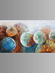 abordables -Pintada a mano Abstracto Horizontal Pintura al óleo pintada a colgar Decoración hogareña Un Panel