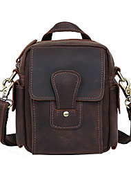 Men Bags Spring Summer Fall All Seasons Cowhide Shoulder Bag with for Shopping Casual Sports Outdoor Office & Career Brown