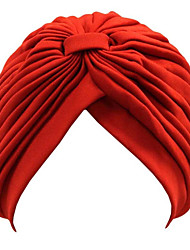 Womens Twist Pleated Stretch Turban Hair Wrap Sun Cap