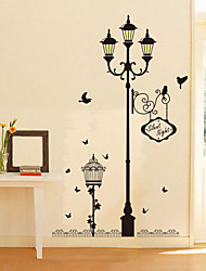 cheap -Beautiful PVC Bird Street Romantic Love Wall Stickers