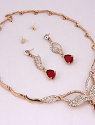cheap -Crystal Luxury Party Casual Bridal Fashion Wedding Imitation Diamond Alloy Necklace Earrings