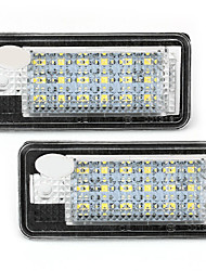 2 White 18 SMD LED License Plate Lights Lamps Bulbs for Audi A3 A4 8E RS4 A6 Q7