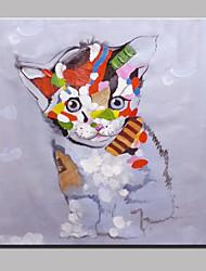 cheap -Oil Painting Hand Painted - Pop Art Modern Canvas