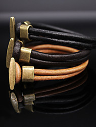 Žene Koža Narukvice Vintage Ležerne prilike Moda Koža Jewelry Dnevno Nakit odjeće