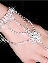 cheap -Women's Rhinestone Silver Plated Imitation Diamond Star Ring Bracelet Wrap Bracelet - White Bracelet For Party Daily