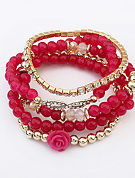 cheap -Women's Beads Bangles - Fashion Bracelet Coffee / Red / Rainbow For Daily / Casual