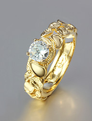 cheap -Women's Gold Plated / 18K Gold Band Ring - Fashion Golden Ring For Wedding / Party / Daily