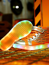 cheap -LED Light Up Shoes,Boy's and Girl Wing shoes Spring / Summer / Fall / Winter Novelty Leather Casual Flat Heel Hook & Loop /