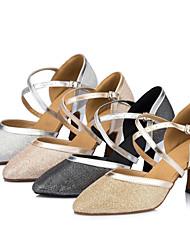 Sapatos de Dança (Preto / Marfim / Prateado / Dourado) - Mulheres - Customizáveis - Latim