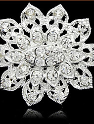 cheap -Women's Brooches - Pearl, Rhinestone Fashion Brooch Silver For Daily