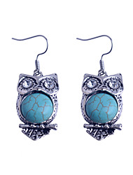 cheap -Vintage Style Turkey Blue Tophus Cute Owl Earring