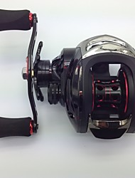 Baitcast Reels 6.3:1 11 Ball Bearings Left-handed Bait Casting / Freshwater Fishing / Lure Fishing - MD200LA FLK