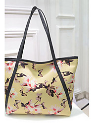 Women Bags All Seasons PU Tote for Shopping Casual Outdoor White Black Yellow Blue Blushing Pink