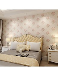 Arttop®Floral Wallpaper Country Wall Covering , Non-woven Paper Printing Soundproof Non-Woven 3D Wallpaper