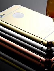 nouveau miroir de placage de retour avec le cas châssis métallique de téléphone pour iPhone 4 / 4S (couleurs assorties)