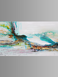 Hand-Painted Abstract Landscape Horizontal,Classic Modern Traditional European Style One Panel Canvas Oil Painting For Home Decoration