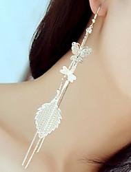 Žene Sitne naušnice kostim nakit Umjetno drago kamenje Legura Animal Shape Rukav leptir Jewelry Za Vjenčanje Party Dnevno Kauzalni