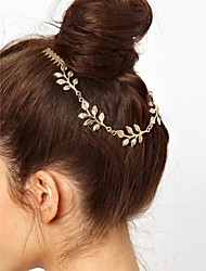 cheap -Women Golden Leaves Double Combs Hairpin Hair Accessories
