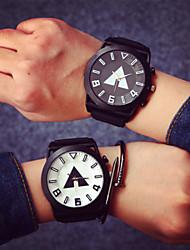 cheap -Large Dial Couple Fashion Watches Men Luxury Brand Sports Watches Women Dress Quartz Vintage Rubber Band Strap Watch Cool Watches Unique Watches
