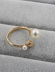 cheap -Fashion Women  Pearl With Metal Ball Adjustable Ring