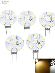 cheap -1.5W G4 LED Spotlight MR11 6 SMD 5050 80-120lm Warm White Natural White 3000-3500 6000-6500K Dimmable DC 12 AC 12V