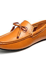 cheap -Men's Moccasin Nappa Leather Summer / Fall Boat Shoes Black / Dark Blue / Light Brown / Party & Evening