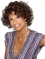 cheap -Women Synthetic Wig Short Curly Brown African American Wig Halloween Wig Carnival Wig Costume Wig