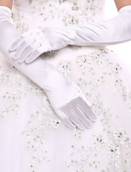 cheap -Spandex Cotton Wrist Length Opera Length Glove Charm Stylish Bridal Gloves Party/ Evening Gloves With Embroidery Solid
