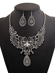 cheap -Women's Statement Necklaces Floral Special Occasion Event/Party Street Club Metal Alloy Alloy Geometric
