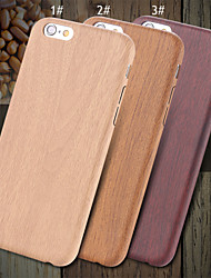 cheap -For iPhone X iPhone 8 iPhone 8 Plus iPhone 6 iPhone 6 Plus Case Cover Ultra-thin Back Cover Case Wood Grain Hard PU Leather for iPhone X
