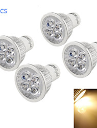 4W GU10 LED Spotlight A50 4 High Power LED 320-350 lm Warm White 3500 K Decorative Dimmable AC 110-130 V