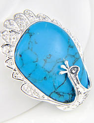 Men's Women's Pendants Gem Silver Plated Turquoise Geometric Peacock Jewelry Wedding Party Daily Casual Sports 1pc