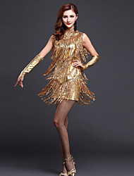 Shall We Latin Dance Dresses Women Dress with /Gloves/Neckwear