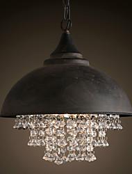 baratos -Europa do norte do vintage pingente de cristal luzes de metal sombra sala de estar sala de jantar lustre