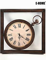 baratos -Quadrada Retro Relógio de parede , Outros Metal 60*60*5CM(24inch*24inch*2inch)*1PC