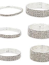 preiswerte -Damen Diamantimitate Ketten- & Glieder-Armbänder Manschetten-Armbänder Tennis Armbänder - Modisch 4 # 5 # 6 # Armbänder Für Weihnachts