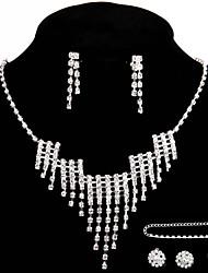 Недорогие -Жен. Прочее Комплект ювелирных изделий кольца / Серьги / Ожерелья - регулярное Назначение Свадьба / Для вечеринок / Особые случаи