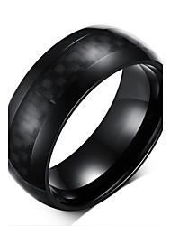 Недорогие -Классические кольца Титановая сталь Мода Черный Бижутерия Для вечеринок Повседневные 1шт