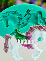 cheap -Unicorn Horse DIY Silicone Chocolate Pudding Sugar Ice Cake Mold Color Random