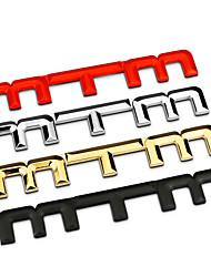 mtm alliage bar en zinc métal chromé Car Styling badge emblème 3d sticker extérieur de logo de réaménagement
