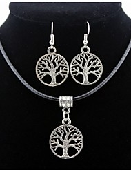 cheap -Men's / Women's Jewelry Set Earrings / Necklace - Silver For Daily / Casual