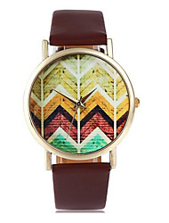 cheap -Women's Quartz Fashion Watch Chronograph PU Band Charm White Brown Beige