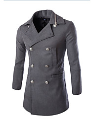 cheap -Men's Cotton Slim Coat - Solid Colored