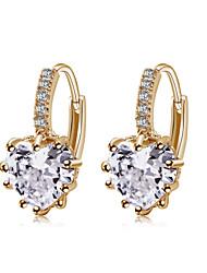 Недорогие -Серьги-кольца Серебрянное покрытие Мода Белый Желтый Бижутерия 2 шт.