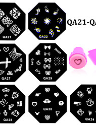 cheap -11pcs Stamping Plate Other Decorations Flower Fashion High Quality Daily